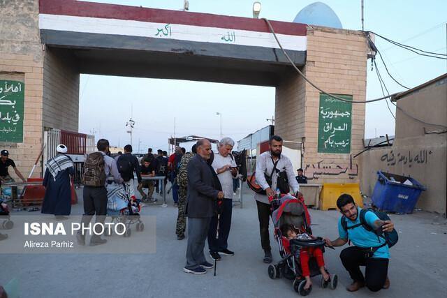 خروج 550 هزار زائر از مرز شلمچه ، تردد روان در دو مرز خوزستان