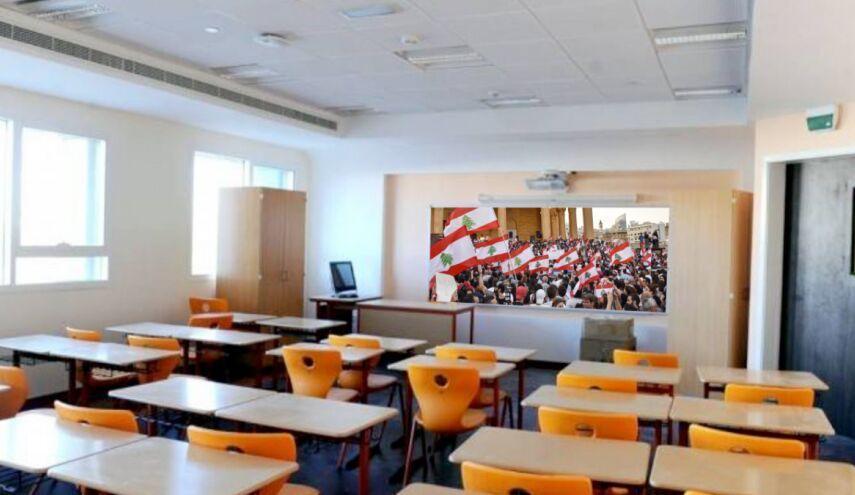 خبرنگاران مراکز آموزشی لبنان از بیم کرونا تعطیل شد